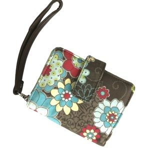 Thirty-One Floral Coupon Wristlet Wallet